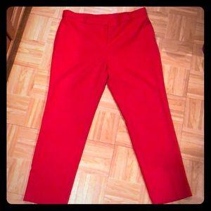 Lovely Anne Klein Bright Red Trouser Slacks
